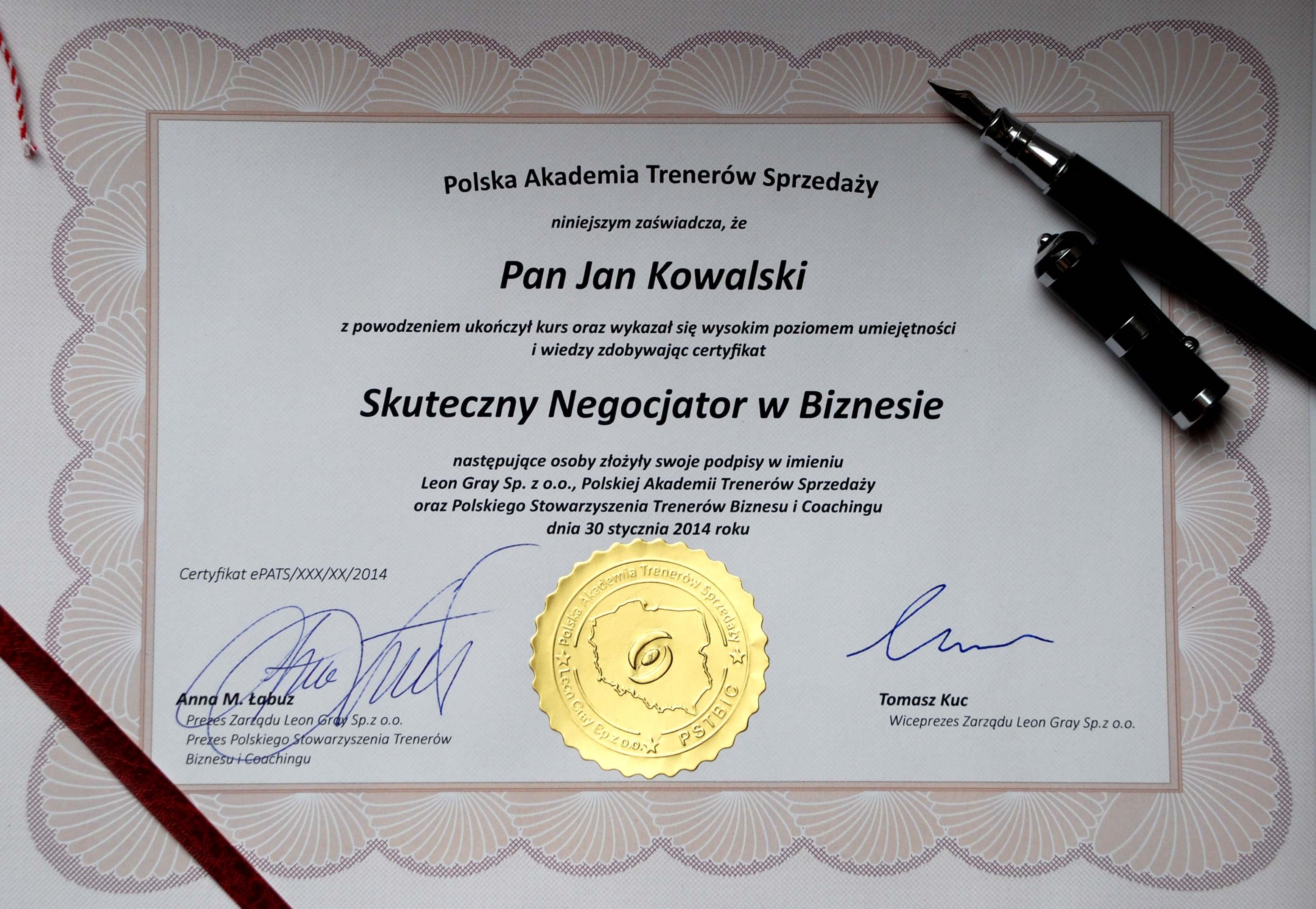 Zdobądź certyfikat !!